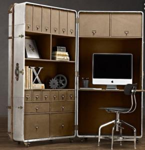 Denna modell kallas Steamboat trunk office