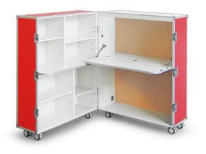 Ett kontor byggt av samma typ av Case som används till instrument